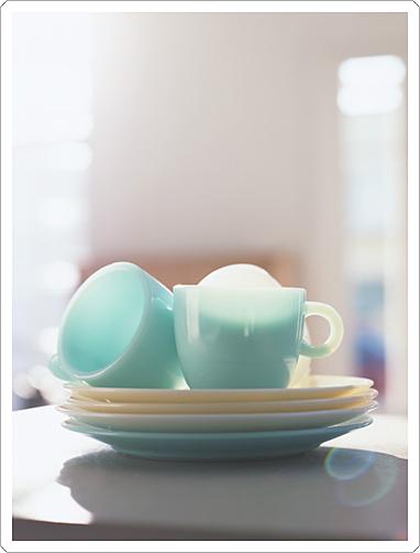 お気に入りの食器を朝時間に並べて。