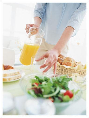 おいしい朝ごはんを味わう