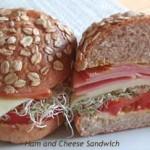 パンにもこだわって「NYのデリ風・ハム&チーズサンドイッチ」