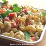 色鮮やかでブランチにぴったり「マカロニ&アボカドサラダ」