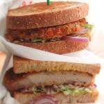 スパイスとハチミツが豚肉にぴったり!「ポークカツレツ・サンドイッチ」