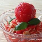 さわやかブランチにぴったり「冷たいトマト・スパゲッティ」
