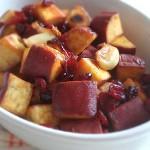 風味も彩りも◎冷めてもおいしい「サツマイモ&クランベリー」