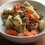 ハチミツ・レモン風味の「ニンジン&サツマイモの温サラダ」