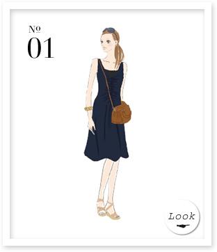 01 本書P33から ジャージ素材の美シルエットドレス