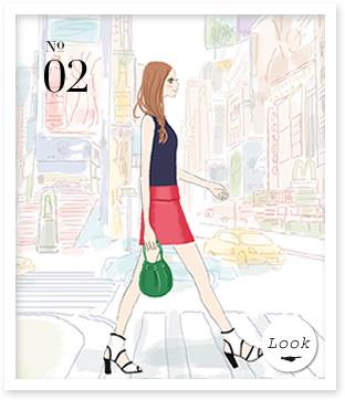 02 本書P45から 今年らしいバイカラーのドレス