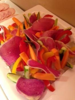 かわいい盛り付けのサラダ!美しい!