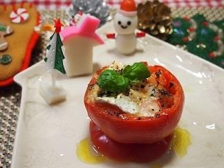 カマンベールチーズとトマトのオーブン焼き