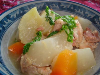 鶏肉と大根の甘酒煮