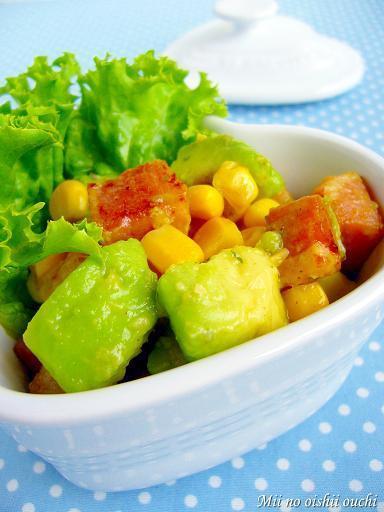 アボカド&ベーコンのダイスサラダ