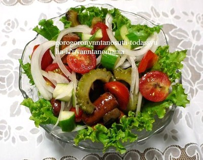 ゴーヤと夏野菜のモリモリ温サラダ♪