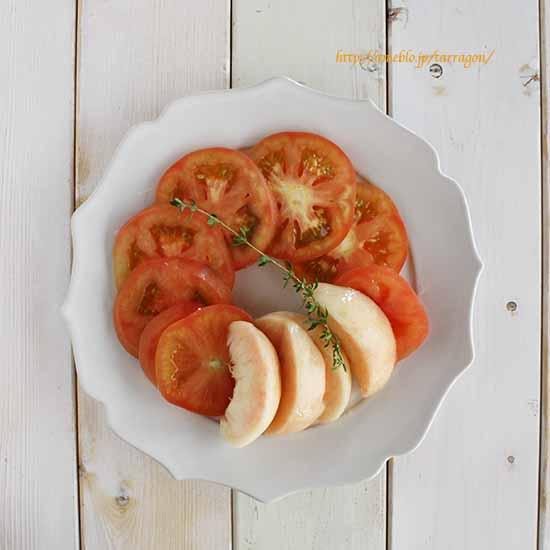 トマトと桃1