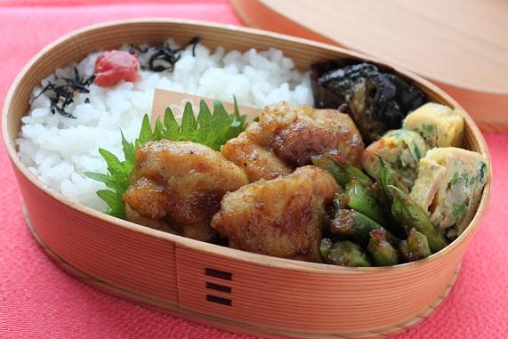 鶏とインゲン豆のカレー照り焼きのお弁当