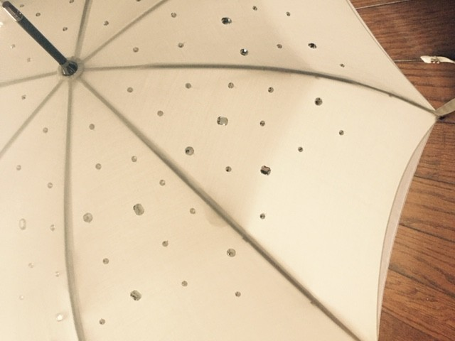 日傘アップ