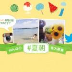 あなたの「#夏朝」を大募集!TwitterかInstagramでご参加ください♪