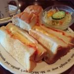 【大阪・梅田の朝食】大阪風味の「たまごサンド」を純喫茶で!@珈琲の森