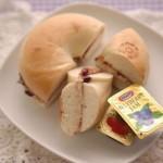5分でできる!「 ベーグルのブルーベリーチーズサンド」~簡単わくわく朝ごはん~