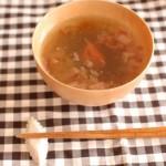 1分でできる!「とろろこぶと梅干しのさっぱりスープ」~簡単わくわく朝ごはん~