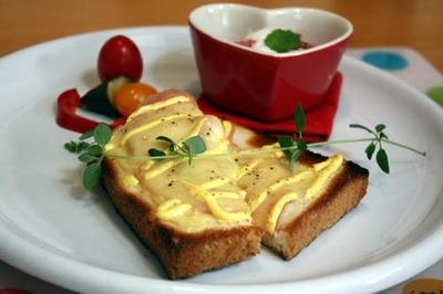 ★簡単だけどハマる!ハムチーズトースト