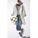 【日替わりコーデ術】ロングコートを着る日のコーディネート(キルティングコート主役のこなれスタイル)