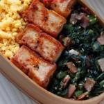 下ゆでなしの葉野菜で時短!「小松菜とベーコンのふりかけ」