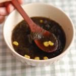 3分でできる!「のりコーンスープ」~めんどくさがり屋さんの簡単あさごはん~