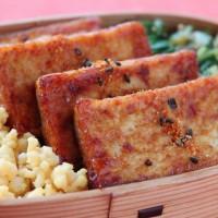 水切りなしですぐできる豆腐のおかず!「厚揚げのしょうが焼き」のお弁当