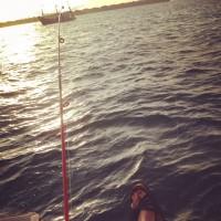 朝陽と潮風を浴びながら海釣り