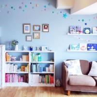 休日の朝は読書タイム☆見せる本棚で素敵なスペース作り♪