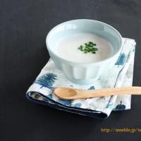 年末年始の暴飲暴食をリセット、豆腐と豆乳のシンプルポタージュ。