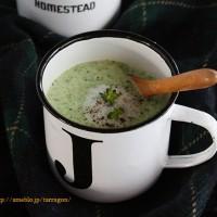 10分で簡単、グリーンなブロッコリーポタージュ。