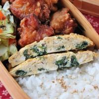 戻し汁が出汁がわり!「わかめの韓国風卵焼き」のお弁当