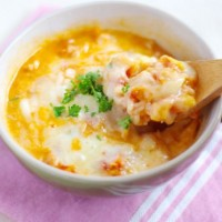 チーズリゾットが朝3分で!「作り置きトマトスープ」レシピ