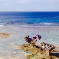 嵐も来たね✨本当に♡なハートロック🌺沖縄