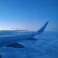 イギリス上空の朝