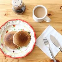 週末はパンケーキミックスを使って朝ごはん作り:)