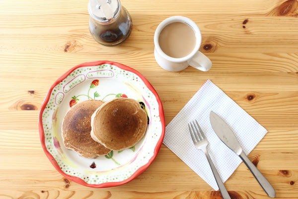 パンケーキミックスで朝ごはん_1new