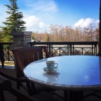 大自然の朝テラスカフェ♡