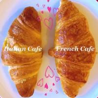 French CafeのクロワッサンとItalian Cafeのクロワッサン❤️