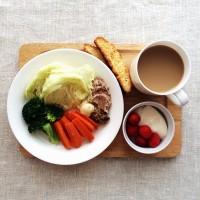 電子レンジでかなう♪「野菜たっぷり」朝ごはん