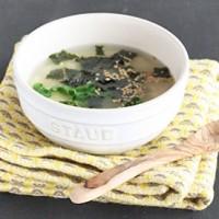 包丁まな板不要!レンジで5分の「ふんわりのりたま中華スープ」