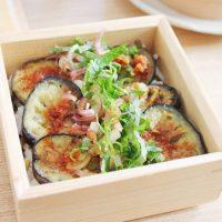夏の定番になりそう!簡単「なす寿司」のお弁当