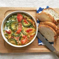 野菜200gで夏バテ予防!トマトとゴーヤの「トースターオムレツ」