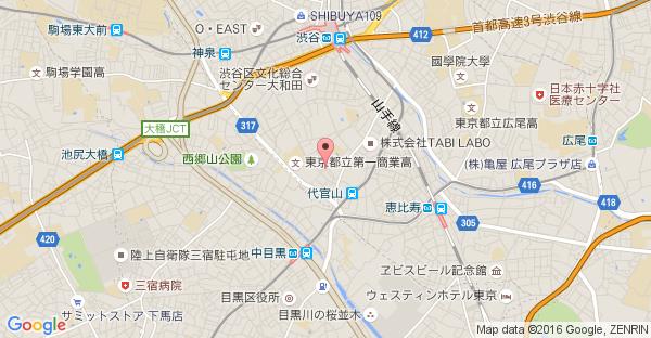 Google Map of 東京都渋谷区猿楽町22-12