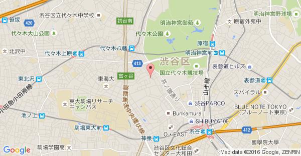 Google Map of 東京都渋谷区神山町42−2