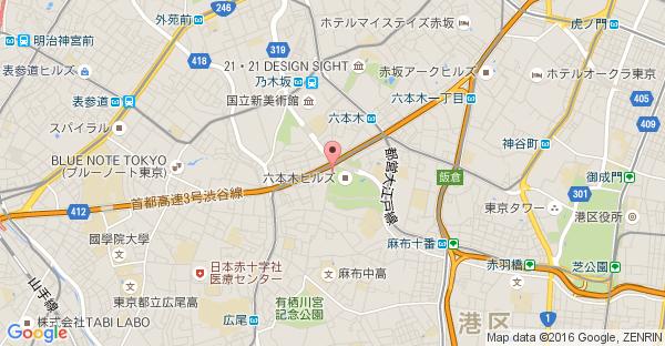 Google Map of 東京都港区六本木6-4-1 六本木ヒルズ 1F