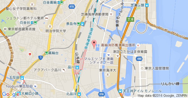 Google Map of 東京都港区港南1-2-70 品川シーズンテラス2F