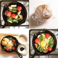 4コマで分かる!10分以内で4品以上の朝ごはんを作る方法