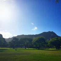 真っ青なハワイの朝は、日差しとオーシャンビューの贅沢朝食で♪