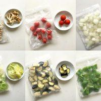 ぜーんぶ生のまま♪「自家製冷凍カット野菜」が便利!